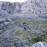 ... der steile Aufstieg ...